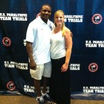 US National with my wife Dennis Ogbe